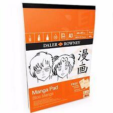 Daler Rowney – Manga Coussin - Comprend 2 GRATUIT modèles –70gsm– 50 pages –