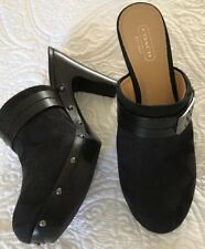 "COACH ""Ivy"" CLOGS - Black - EUC - 7B"