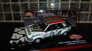 Fiat Ritmo 75 Abarth Grp 2 Attilio Bettega Monte Carlo Rally 79 1/43rd Ixo WRC