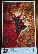 Spawn 301 Cover print. McFarlane & Alex Ross signed & limited print #2 of 500