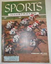 Sports Illustrated Magazine Horse Racing Hialeah Scramble February 1955 040715R