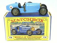 Matchbox Yesteryear Y6-2 1926 Supercharged Bugatti Type 35 In 'D3' Box