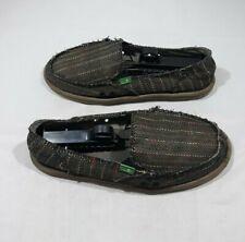 Sanuk Women's Slip On Loafer Sidewalk Surfer Shoes Size 9 Multicolor Flats