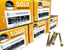PACKS OF 1000 - 8G (4MM) PROFESSIONAL TIMCO SOLO WOOD SCREW POZI COUNTERSUNK