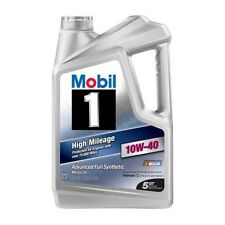 Mobil 1 10W 40 High Mileage Full Synthetic Motor Oil 5 qt. NEW FREE SHIPPING