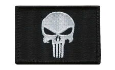 Hook patch Black Punisher GLOW IN DARK Morale Military Tactical Operator Airsoft