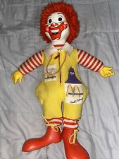 "VINTAGE DOLLS -- 1978 RONALD McDONALD DOLL by HASBRO-- 22""  TALL some stains."