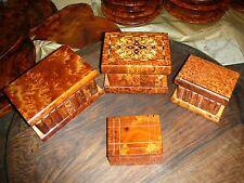 New 4 X Wooden Puzzle Box Secret Hide Your Stash Stuff, Brain Teaser, Magic Gift