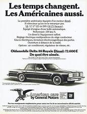Publicité Advertising 018  1979   General motors American cars Oldsmobile Delta