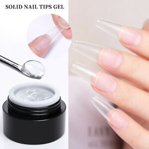 BORN PRETTY Solid Nail Tips Gel Transparent for Quickly Extend Soak Off UV LED