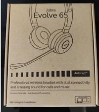 New Jabra Evolve 65 Wireless Bluetooth Stereo Headset for PC/Laptop/Smartphone