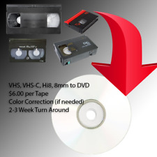 Convert Your VHS,VHS-C, Hi8 and 8mm home movies to DVD (Great Family Gifts!)