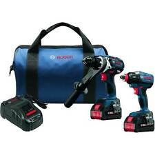 Bosch GXL18V-225B24 18V 2-Tool Drill/Driver Combo Kit -Reconditioned