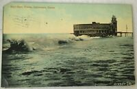 Postcard Surf Bath House Galveston Tx 212407 Valentine & Sons Posted 1910 Ocean
