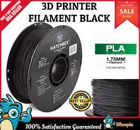 HATCHBOX 3D PLA 3D Printer Filament 1kg Spool Black 1.75mm 3D Printing Spool