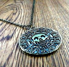 Coin Medallion Pirates of The Caribbean Jack Sparrow Cosplay Pendant with Chain