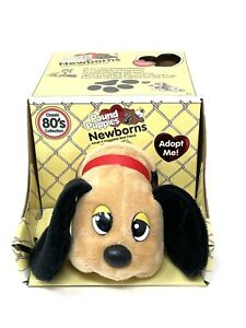 80's Classic Collection Pound Puppies Newborns Tan With Black Ears