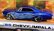 JADA 65 1965 CHEVY IMPALA BIGTIME MUSCLE CUSTM STYL COLLECTIBL CHEVROLET CAR BLU