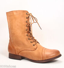 Women's Stylish Cute Zipper Laced Round Toe Combat Military Boots Shoes All Size