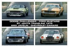 St.Jovite Trans-Am 1970 - Dodge, Mustang, Camaro, AMX/Javelin Car Poster :>)