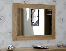 Nero solid oak furniture bedroom hallway bevelled glass wall mirror