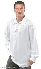 Blanco De Hombre Medieval Tudor Disfraz pirata camisa manga larga Top NUEVO