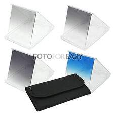 4pcs Gradual Graduated ND2 ND4 ND8 Blue Square Filter Kit Set for Cokin P Series