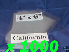 Lot Of 1000 Pieces Heat Shrink Wrap Film Flat Bags 4x6 Candles Pvc 4 X 6