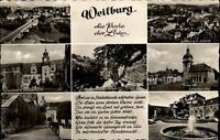 Weilburg an der Lahn Mehrbildkarte 1960 Totale Schloßkirche Hauseleyfelsen u.a.