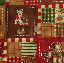 """Tenderberry Cotton Fabric ALL HEARTS COME HOME FOR CHRISTMAS 544 44""""Wide x 1 Yd"""