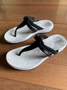 Keen Amaya Flip Flops Black Gray Womens Sz 5 New No Box