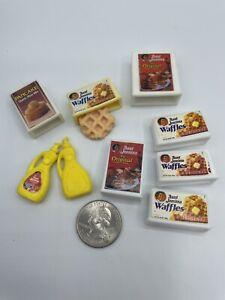 Barbie Dollhouse DIORAMA Food Accessory GROCERY WAFFLE PANCAKE SYRUP BREAKFAST