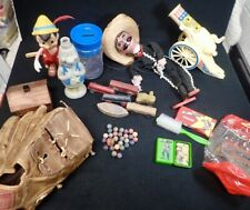 estate lot antique and vintage toys Clay Marbles Marionette G.I. Joe Bag Cannon