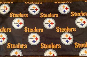 "Pittsburgh Steelers NFL Print Black Window Valance 52"" X 17"" NEW"
