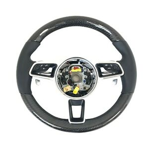Porsche 991 718 Boxster Cayman Carbon Fibre PDK Steering Wheel Flappy Paddle