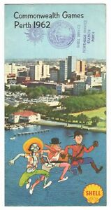 SHELL Petrol 1962 Perth Commonwealth Games Programme & Map
