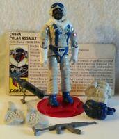 Vintage Hasbro GI Joe ARAH 1985 Cobra Snow Serpent-Complete W/File Card   HK/NM!