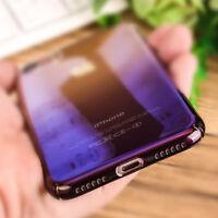 Für iPhone 8 7 Plus Gradient Case Farbwechsel Hülle Transparent Schutz Cover