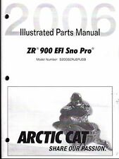 2006 ARCTIC CAT SNOWMOBILE ZR 900 EFI SNO PRO PARTS MANUAL P/N 2257-401  (561)