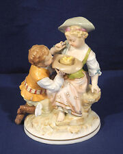 Fine Antique German Berlin KPM Porcelain Figurine Man + Woman Museum Quality!