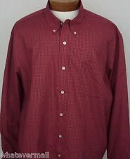 NWT Saddlebred LS Big and Tall Sport Shirt Red Blue Mens Wrinkle Free New 2XLT