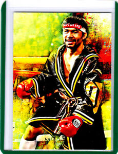 2021 Manny Pacquiao Professional Boxer 1/1 Black ACEO Fine Art Print Card By:Q