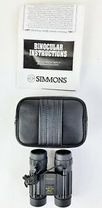 Compact Binoculars 8 x 21 Focus Free Black Carrying Case & Strap Simmons