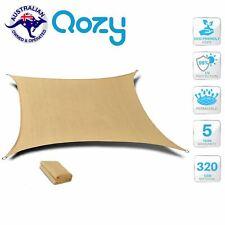 Waterproof Triangle Shade Sail 3x3x3m Sand Beige Sun Canopy Umbrella Outdoor