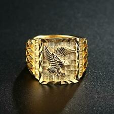 Finger Fashion Gold Eagle Jewelry H Men's Ring Hip Hop Punk Style Male