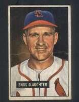 1951 Bowman #58 Enos Slaughter GVG Cardinals 125688