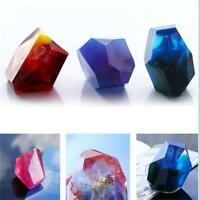 DIY Crystal Geometric Silicone Mold Jewelry Making Pendant Mould Resin QK