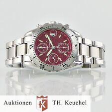 Eterna Super Kontiki 120 M red dial Automatik Chronograph Edelstahl Ref. 1578.41