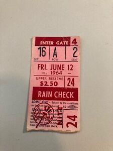 1964 New York Yankees - Mickey Mantle / Joe Pepitone ticket stub