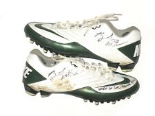 Brian Linthicum Michigan State Spartans Game Worn Signed 2012 Senior Bowl Cleats